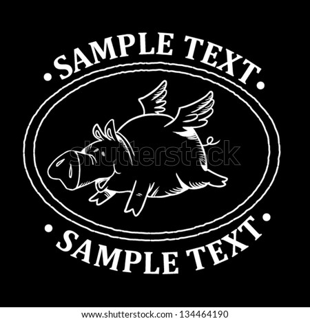 pig graphic - stock vector