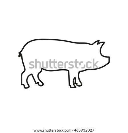pig icon isolated on background. Modern flat pictogram, business, marketing, internet concept. Trendy Simple vector symbol for web site design or button to mobile app. Logo illustration