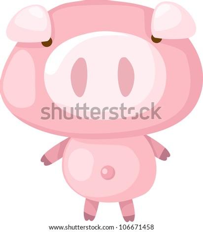 pig vector - stock vector