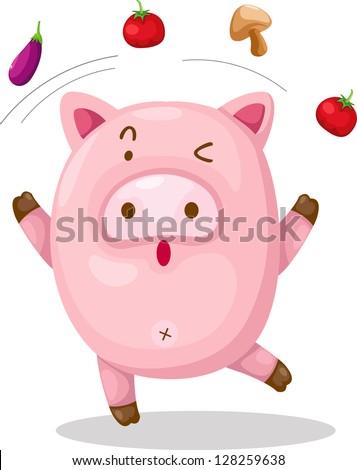 pig .vector - stock vector