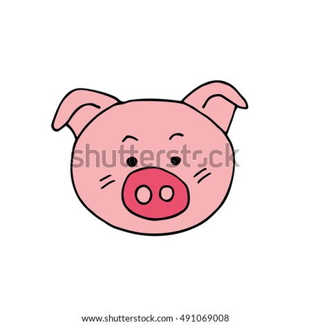 Pig. Vector Illustration
