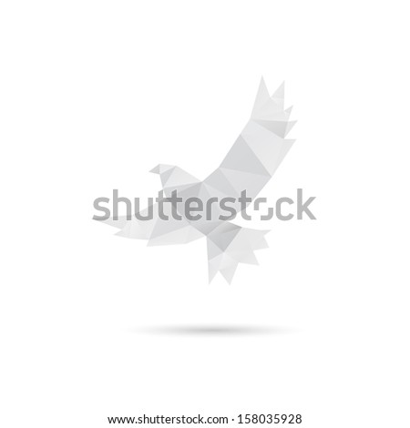 Pigeon abstract isolated on a white backgrounds, vector illustration