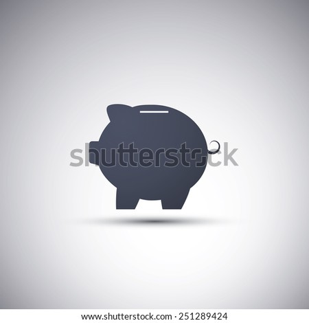 Piggy-bank Icon Design - stock vector