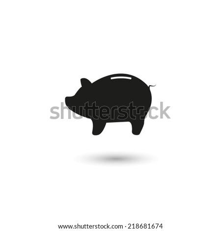 Piggy bank - saving money  - vector icon - stock vector