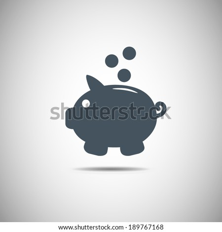 Piggy bank vector icon Piggy bank vector icon  - stock vector