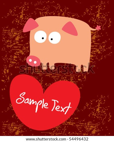 Piggy valentine gift tag stock vector 54496432 shutterstock piggy valentine gift tag negle Gallery
