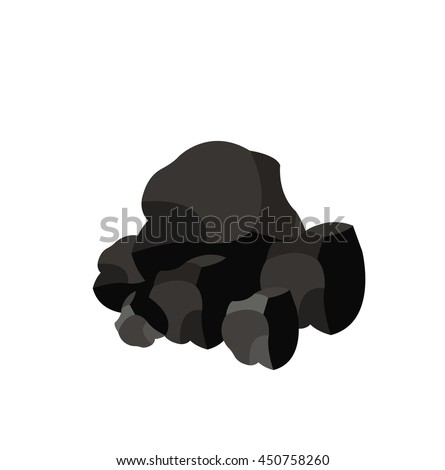Pile of charcoal,Coal  - stock vector