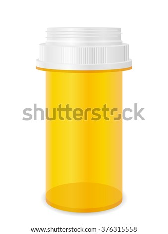 Pill bottle on a white background. - stock vector