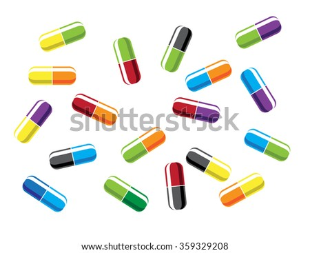 Pill Capsules. Vector illustration