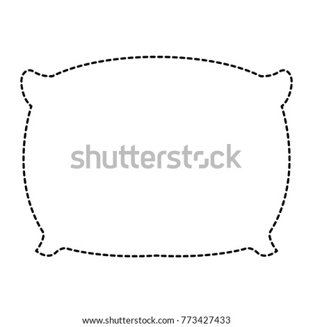 pillow bed isolated icon