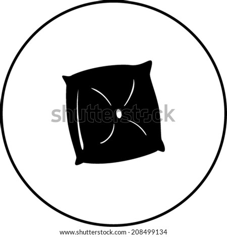 pillow cushion symbol - stock vector