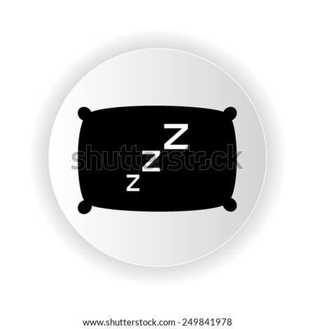 pillow icon - stock vector