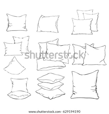 pillow drawing design. pillow, vector, illustration pillow drawing design p