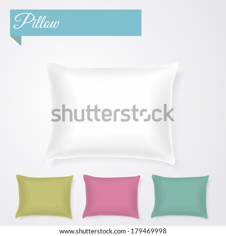 Pillow with separate shadows - stock vector
