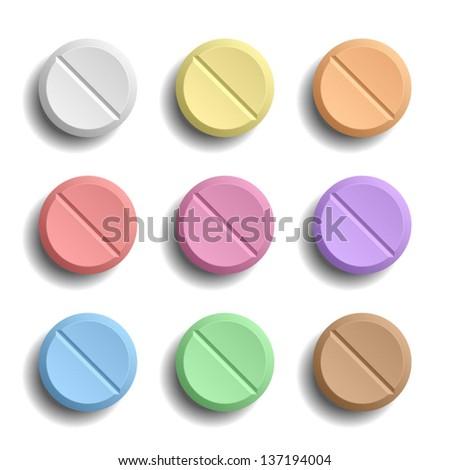 Pills - stock vector