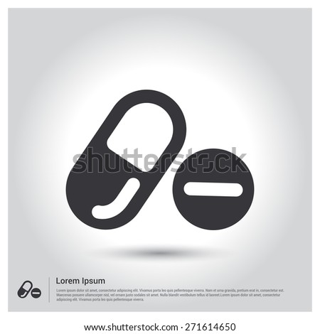 Medical drugs icon 306828686 shutterstock pills and capsules icon pictogram icon on gray background vector illustration for web site voltagebd Choice Image