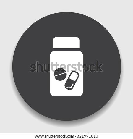 pills bottle icon - stock vector