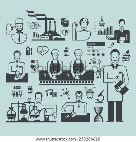 Pharmaceutical Factory Stock Vectors & Vector Clip Art ...