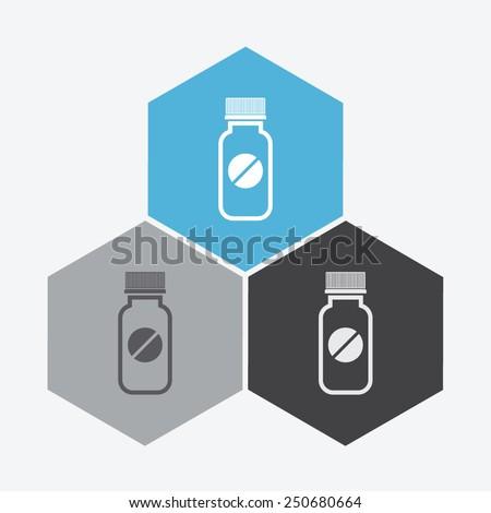 Pills vector icon. Medicine sign. Drugs icon. - stock vector
