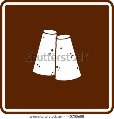 piloncillo or panela pylons sign - stock vector