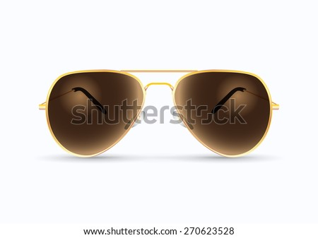 pilot sunglasses illustration - stock vector