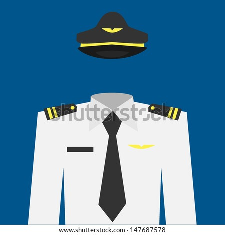 Pilot uniform - stock vector