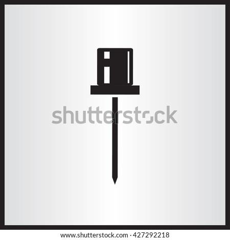 pin icon vector illustration - stock vector