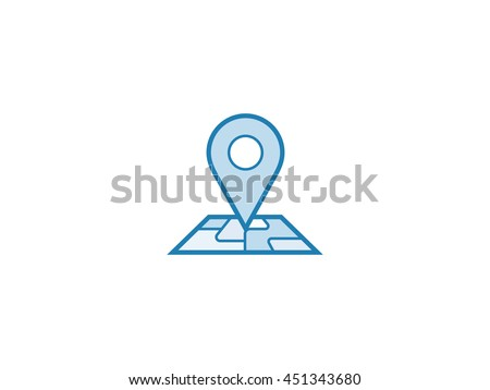 Pin map icon. Vector illustration of map pin