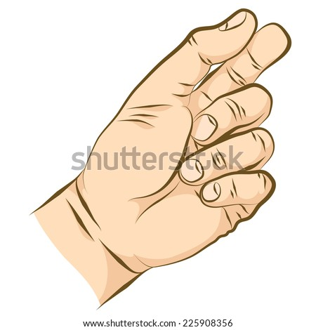 Pinch Fingers Front Hand Holding Something Stock Vector ... Hands Holding Something Drawing