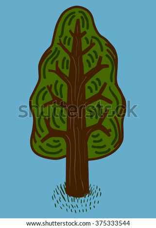 Pine tree - stock vector