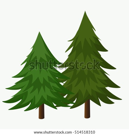 Pine Tree Pine Forest Vector Illustration Stock Vector ...