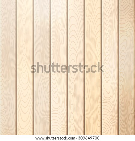 Pine wood plank background. Vector bright square background with vertical planks. - stock vector