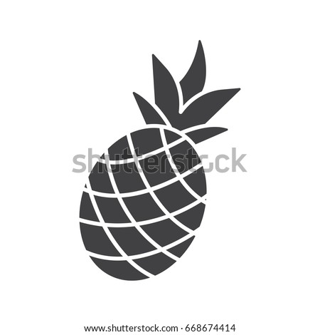 Outline Black White Image Pineapple Vector 290242298 on Cartoon Fruit