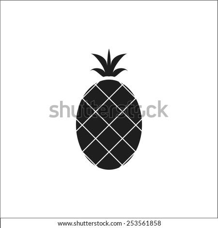Pineapple icon - stock vector