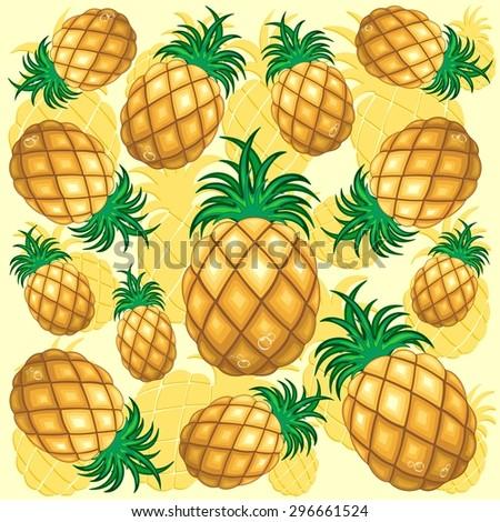 Pineapple Juicy Pattern - stock vector