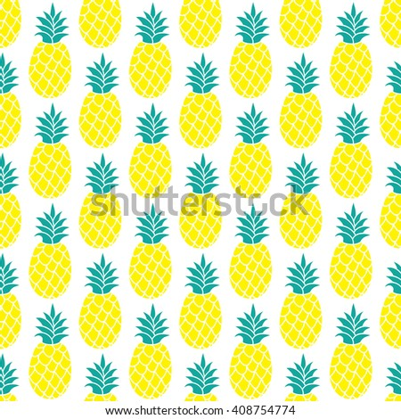 Pineapple vector background/Pineapple seamless pattern/Pineapple textile pattern. Isolated pineapple repeating background/Summer colorful pineapple textile print/Pineapple background for scrapbooking. - stock vector