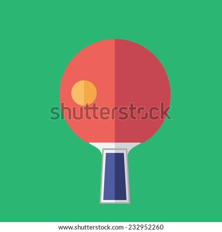 ping pong - stock vector