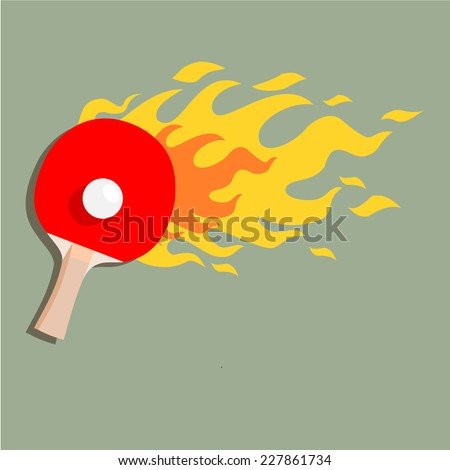 "Ping-pong is on fire"" vector  - stock vector"