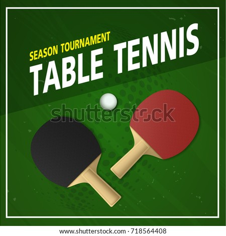 Ping pong tournament table tennis background stock vector for Table tennis tournament template