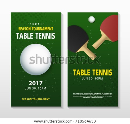 Ping pong table tennis tournament poster stock vector 718564633 ping pong or table tennis tournament poster or banner vector template design fandeluxe Gallery