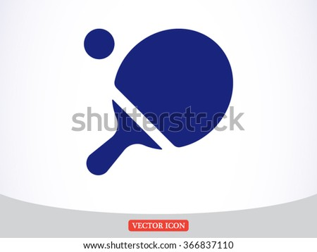 Ping pong table tennis icon