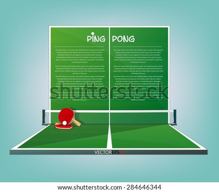 Ping Pong, tennis table vector sport background - stock vector