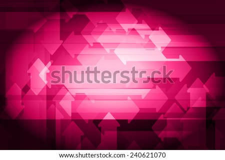 pink abstract arrows background. Vector illustration. - stock vector