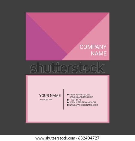 Pink business card robertottni pink business card fbccfo Image collections