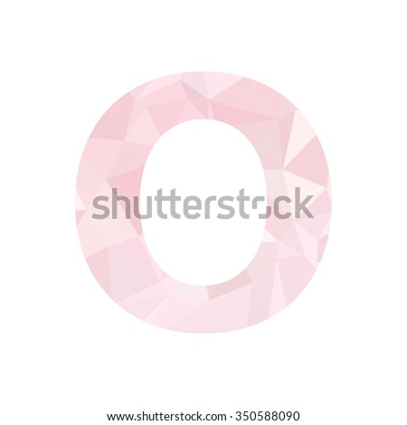 Pink Alphabet Polygon Style, Creative Design Templates