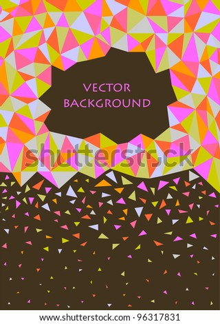 pink and green abstract triangle background - stock vector