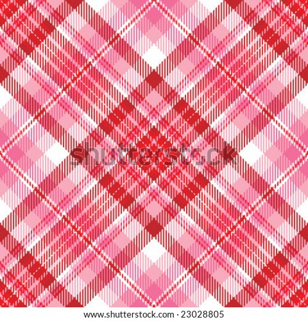 Pink and Red Plaid - stock vector