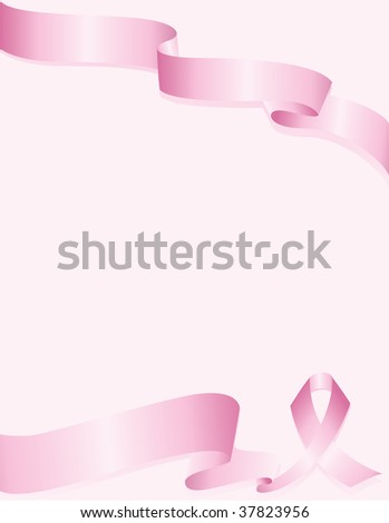 Pink Awareness ribbon background for breast cancer - stock vector