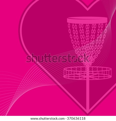 Pink background with disc golf theme (vector)