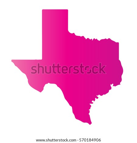 Pink Blank Texas Map Vector Illustration Stock Vector - State map texas